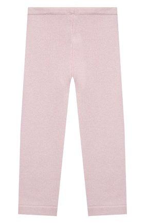 Детские кашемировые брюки LA PERLA розового цвета, арт. 61313/2A-8A | Фото 2 (Материал внешний: Шерсть; Девочки Кросс-КТ: Брюки-одежда; Ростовка одежда: 5 лет | 110 см)