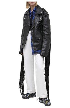 Женские комбинированные кроссовки VETEMENTS черного цвета, арт. UAH21SN244 1385/W   Фото 2