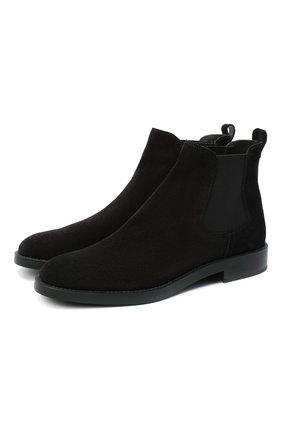 Женские замшевые ботинки TOD'S черного цвета, арт. XXW60C0DD50RE0 | Фото 1