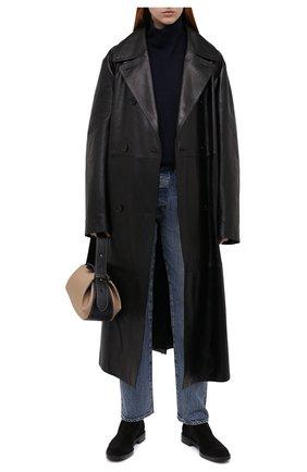 Женские замшевые ботинки TOD'S черного цвета, арт. XXW60C0DD50RE0 | Фото 2