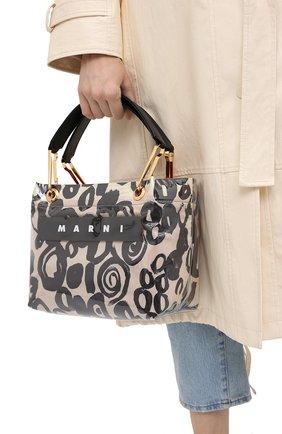 Женский сумка MARNI бежевого цвета, арт. BMMP0013Q1/P3649 | Фото 2