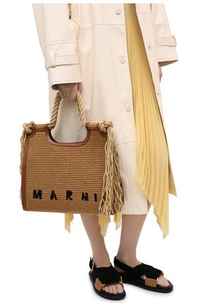 Женский сумка MARNI коричневого цвета, арт. BMMP0024U0/P3860 | Фото 2