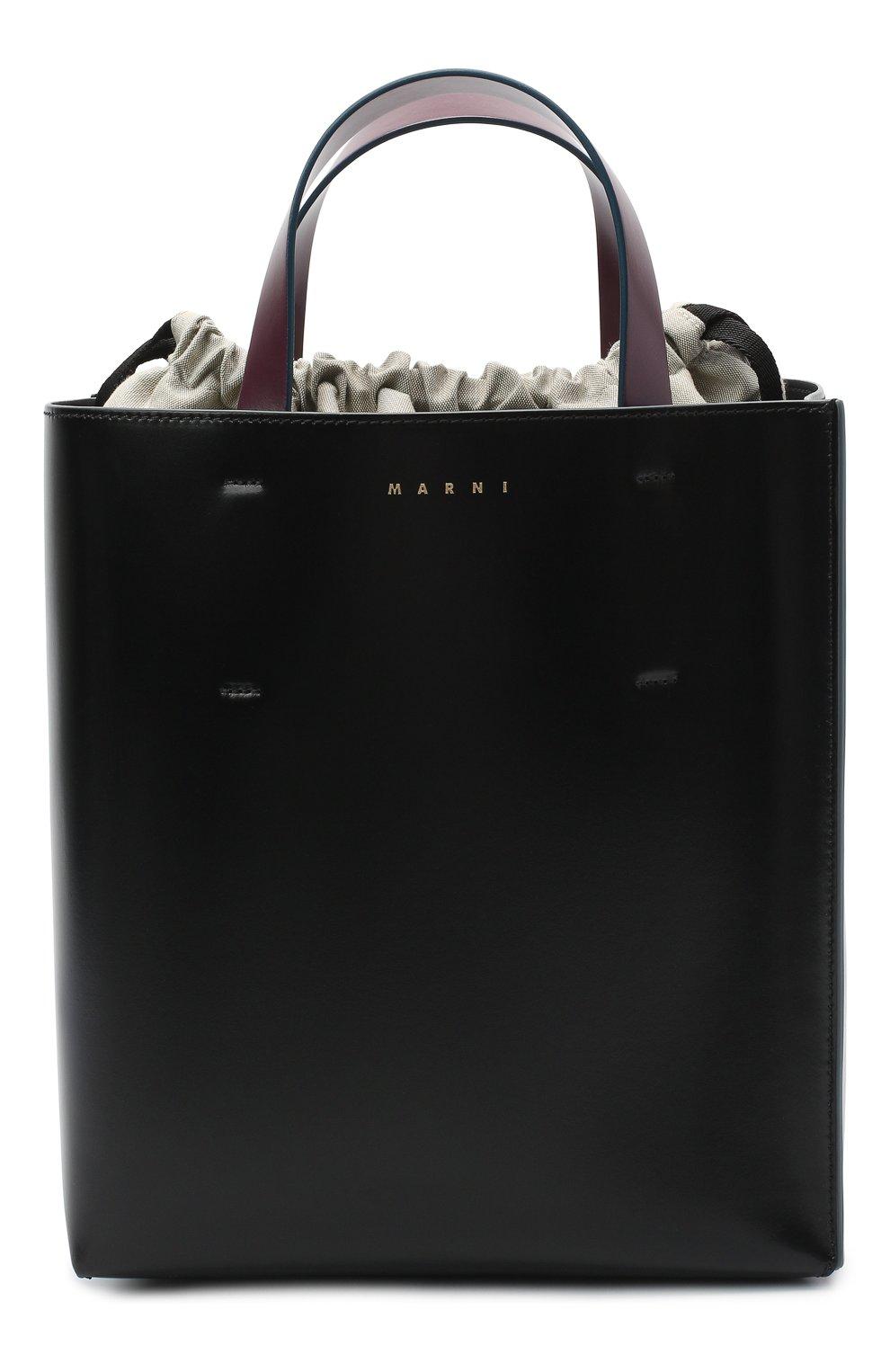Женская сумка-тоут museo MARNI черного цвета, арт. SHMPV01TY0/LV639   Фото 1
