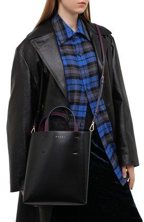 Женская сумка-тоут museo MARNI черного цвета, арт. SHMPV01TY0/LV639   Фото 2