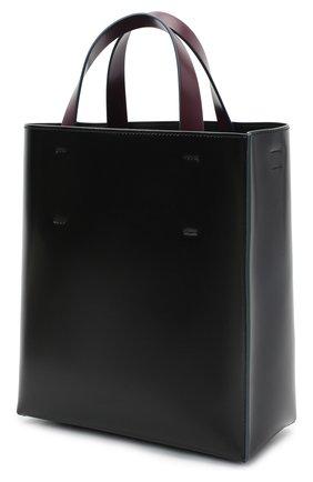 Женская сумка-тоут museo MARNI черного цвета, арт. SHMPV01TY0/LV639   Фото 3