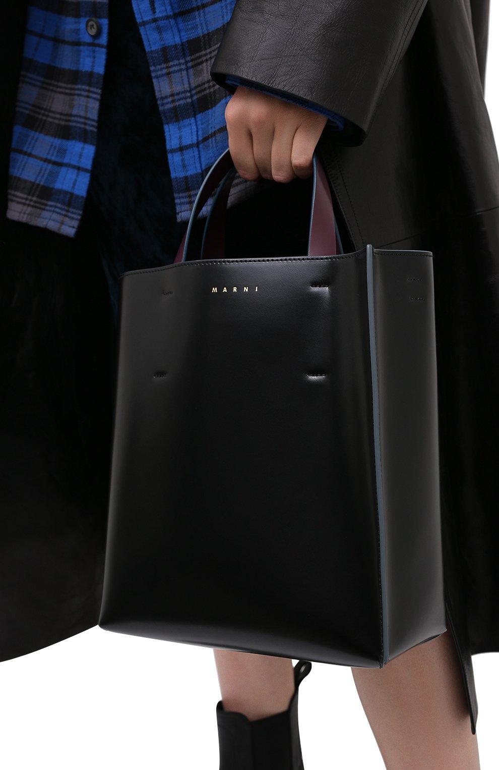 Женская сумка-тоут museo MARNI черного цвета, арт. SHMPV01TY0/LV639   Фото 5