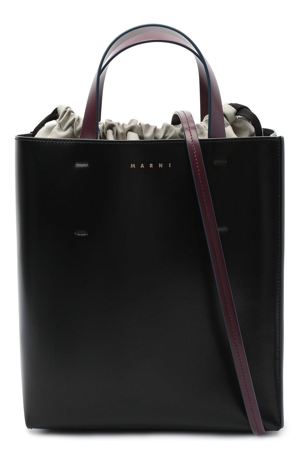 Женская сумка-тоут museo MARNI черного цвета, арт. SHMPV01TY0/LV639   Фото 6