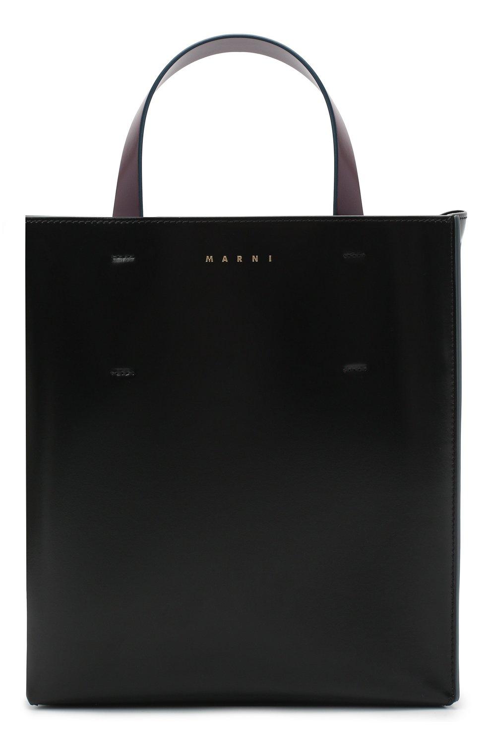 Женская сумка-тоут museo MARNI черного цвета, арт. SHMPV01TY0/LV639   Фото 7
