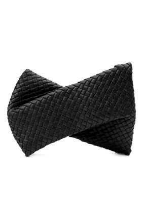 Женский клатч BOTTEGA VENETA черного цвета, арт. 640678/V01D1   Фото 1 (Размер: medium; Материал: Натуральная кожа; Женское Кросс-КТ: Клатч-клатчи, Вечерняя сумка; Случай: Вечерний)