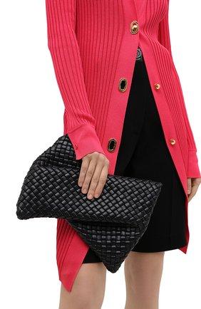 Женский клатч BOTTEGA VENETA черного цвета, арт. 640678/V01D1 | Фото 2