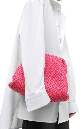 Женский клатч pouch BOTTEGA VENETA розового цвета, арт. 639296/V01D0 | Фото 2