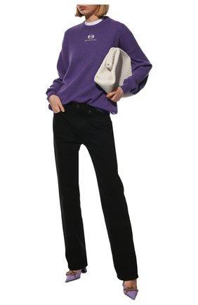 Женский клатч pouch BOTTEGA VENETA белого цвета, арт. 639296/V01D0 | Фото 2