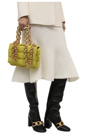 Женская сумка BOTTEGA VENETA светло-зеленого цвета, арт. 631421/V04N0 | Фото 2
