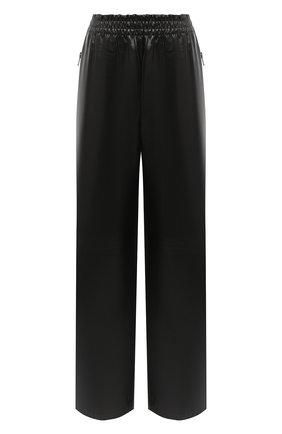 Женские кожаные брюки BOTTEGA VENETA черного цвета, арт. 633867/VKLC0 | Фото 1