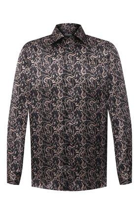 Мужская шелковая рубашка ZILLI черного цвета, арт. MFU-27001-1668/0001 | Фото 1