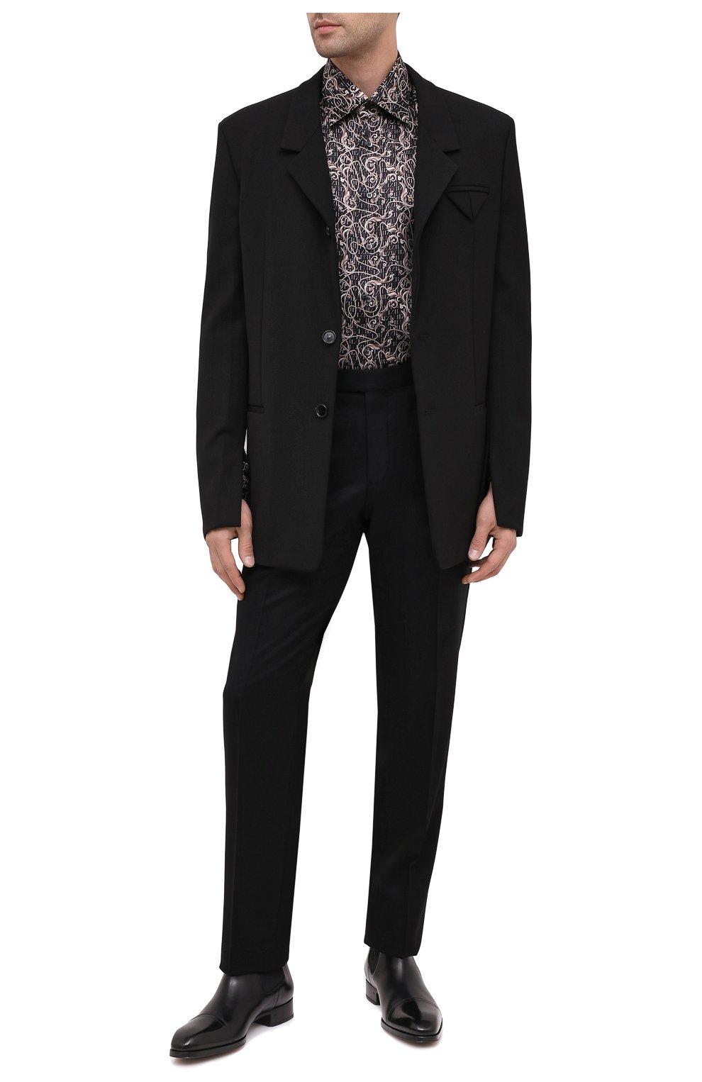 Мужская шелковая рубашка ZILLI коричневого цвета, арт. MFU-27001-1668/0001   Фото 2