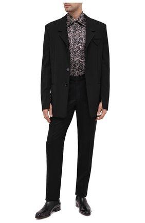 Мужская шелковая рубашка ZILLI черного цвета, арт. MFU-27001-1668/0001 | Фото 2