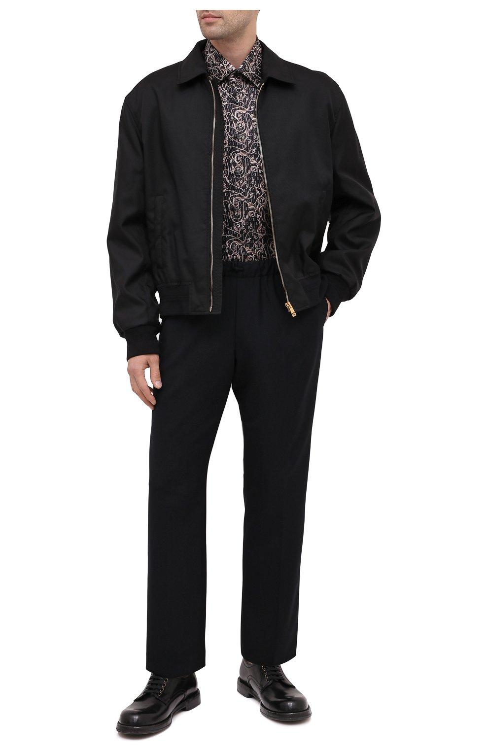 Мужская шелковая рубашка ZILLI коричневого цвета, арт. MFU-27001-1668/0001   Фото 3