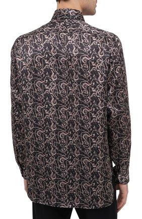 Мужская шелковая рубашка ZILLI коричневого цвета, арт. MFU-27001-1668/0001   Фото 5
