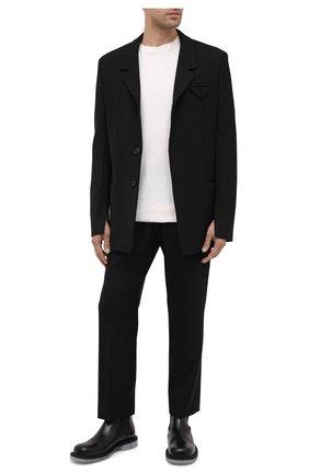 Мужской пиджак BOTTEGA VENETA черного цвета, арт. 636451/V02W0 | Фото 2