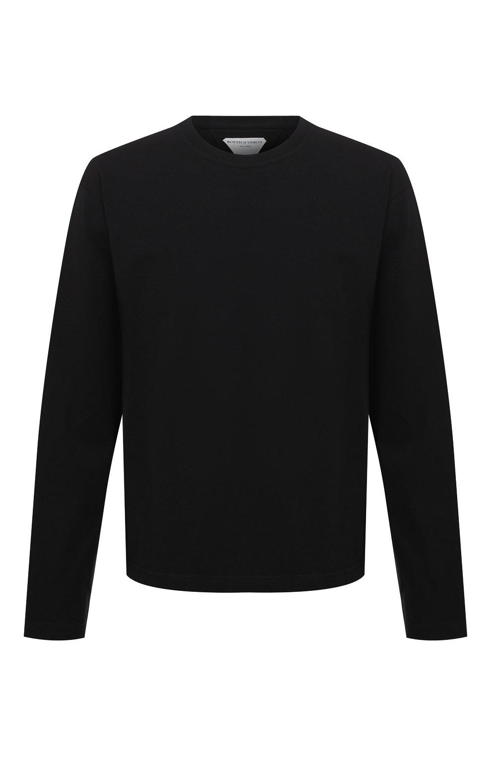 Мужская хлопковый лонгслив BOTTEGA VENETA черного цвета, арт. 639526/VF1U0 | Фото 1