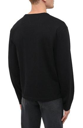 Мужская хлопковый лонгслив BOTTEGA VENETA черного цвета, арт. 639526/VF1U0 | Фото 4