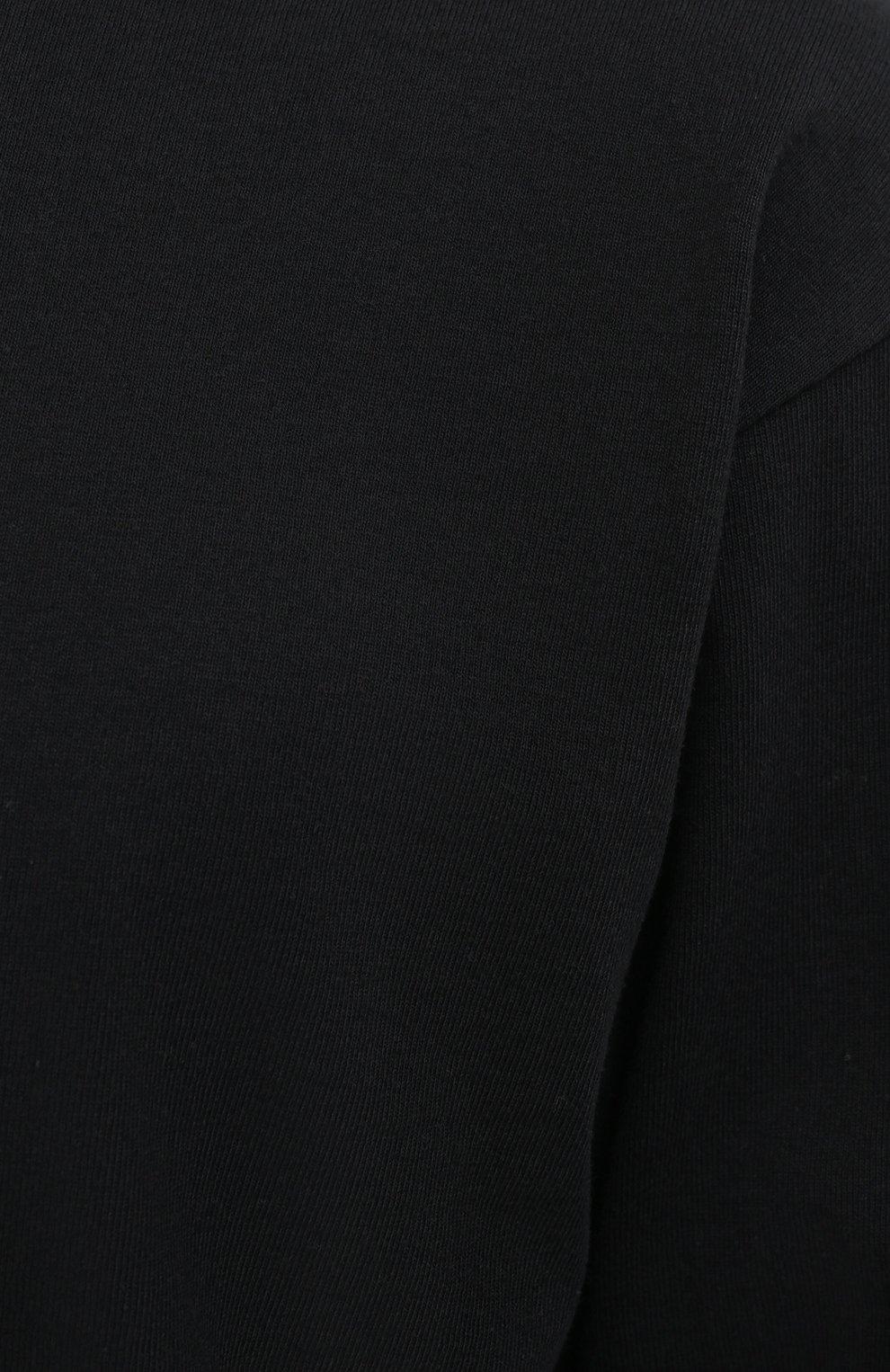 Мужская хлопковый лонгслив BOTTEGA VENETA черного цвета, арт. 639526/VF1U0 | Фото 5