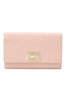 Женские кожаный кошелек на цепочке RALPH LAUREN розового цвета, арт. 434699699 | Фото 1