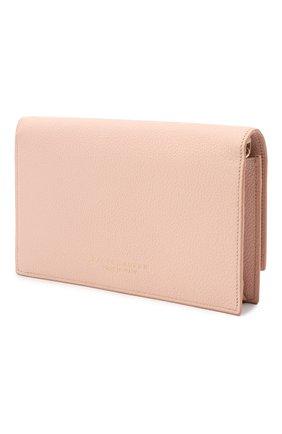 Женские кожаный кошелек на цепочке RALPH LAUREN розового цвета, арт. 434699699   Фото 2