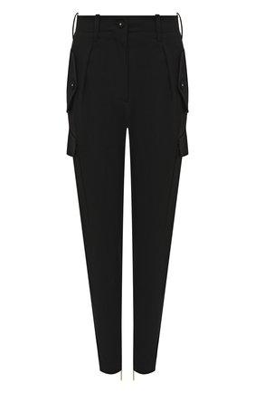 Женские шерстяные брюки GIORGIO ARMANI черного цвета, арт. 0WHPP0E0/T01QW | Фото 1