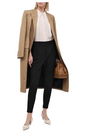 Женские шерстяные брюки GIORGIO ARMANI черного цвета, арт. 0WHPP0E0/T01QW | Фото 2