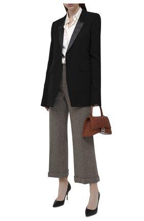 Женские кожаные туфли cardinale DOLCE & GABBANA черного цвета, арт. CD1571/AW549   Фото 2 (Материал внутренний: Натуральная кожа; Подошва: Плоская; Каблук высота: Высокий; Каблук тип: Шпилька)