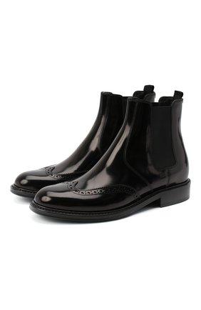 Женские кожаные ботинки ceril SAINT LAURENT черного цвета, арт. 632416/1Y000 | Фото 1