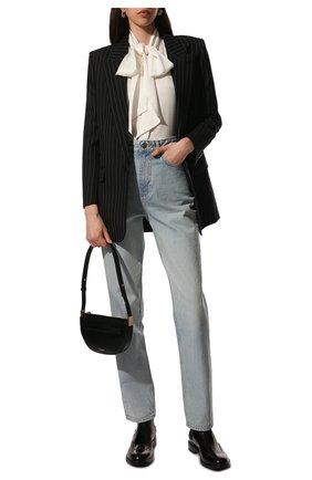 Женские кожаные ботинки ceril SAINT LAURENT черного цвета, арт. 632416/1Y000 | Фото 2