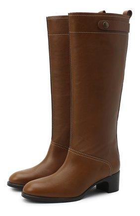 Женские кожаные сапоги liz SEE BY CHLOÉ коричневого цвета, арт. SB35002A/12002 | Фото 1