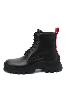 Женские кожаные ботинки DSQUARED2 черного цвета, арт. ABW0110 01501155 | Фото 3