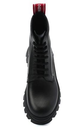 Женские кожаные ботинки DSQUARED2 черного цвета, арт. ABW0110 01501155 | Фото 5