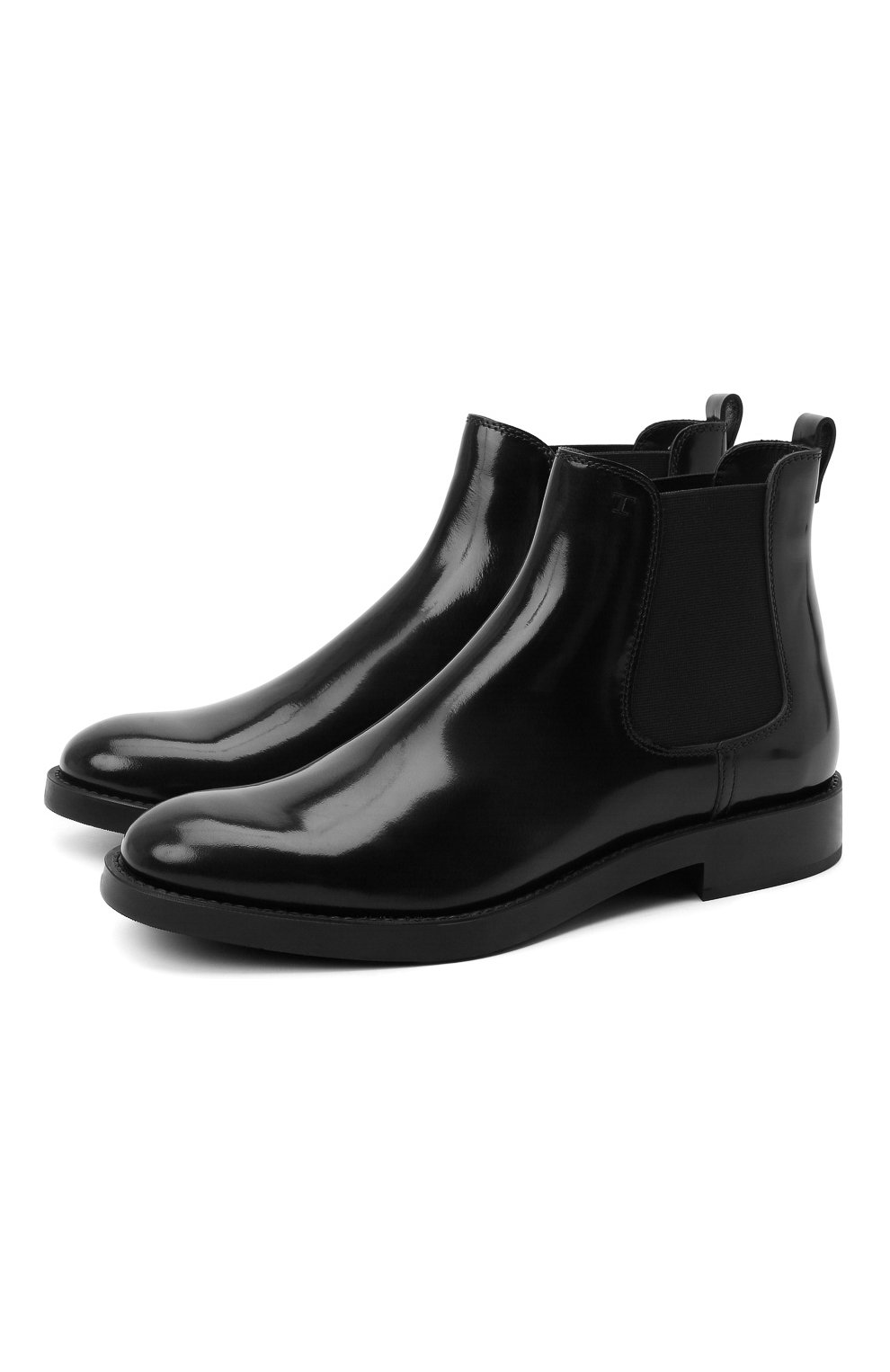 Женские кожаные ботинки TOD'S черного цвета, арт. XXW60C0DD50AKT   Фото 1