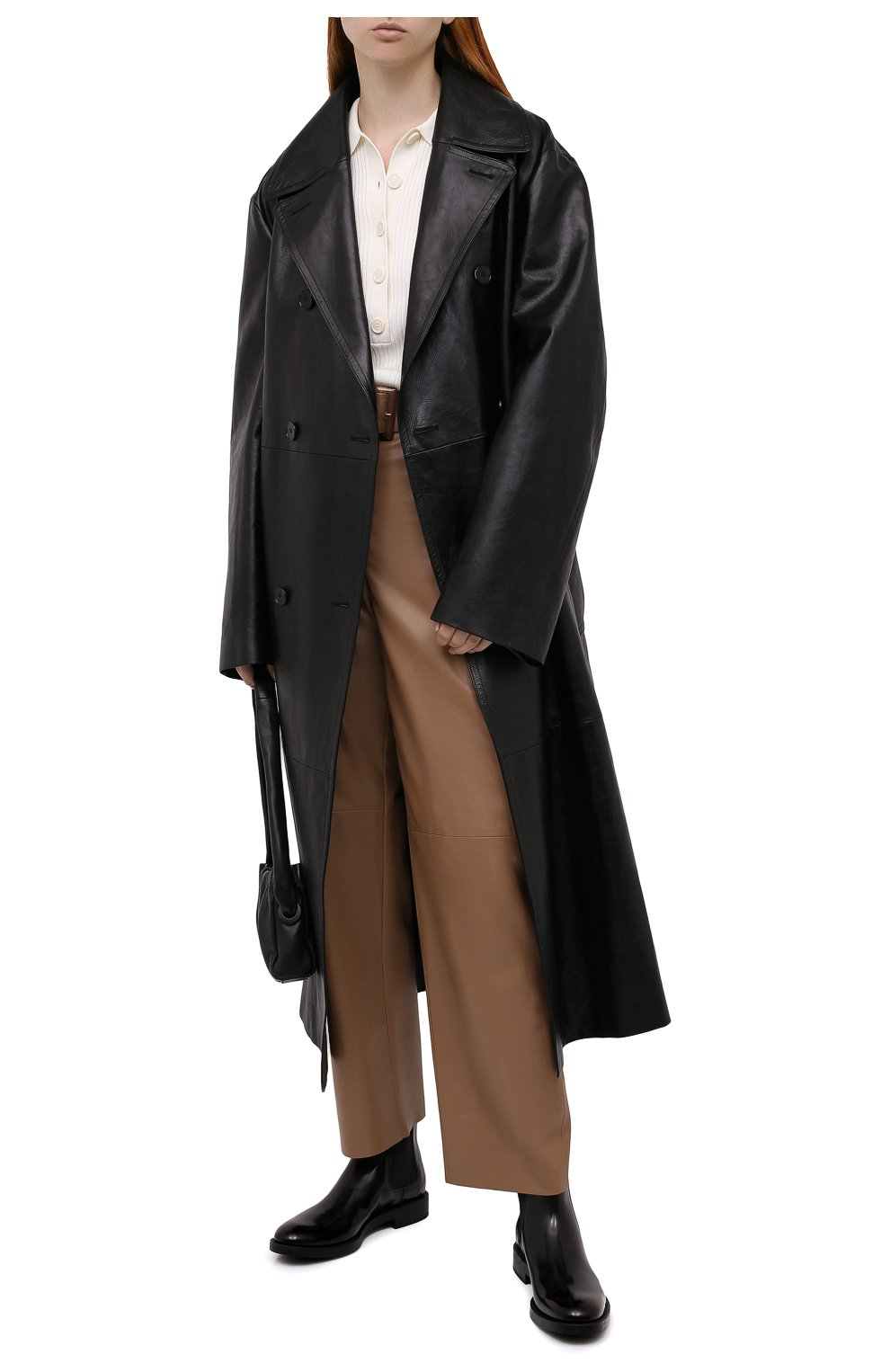 Женские кожаные ботинки TOD'S черного цвета, арт. XXW60C0DD50AKT   Фото 2