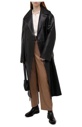 Женские кожаные ботинки TOD'S черного цвета, арт. XXW60C0DD50AKT | Фото 2