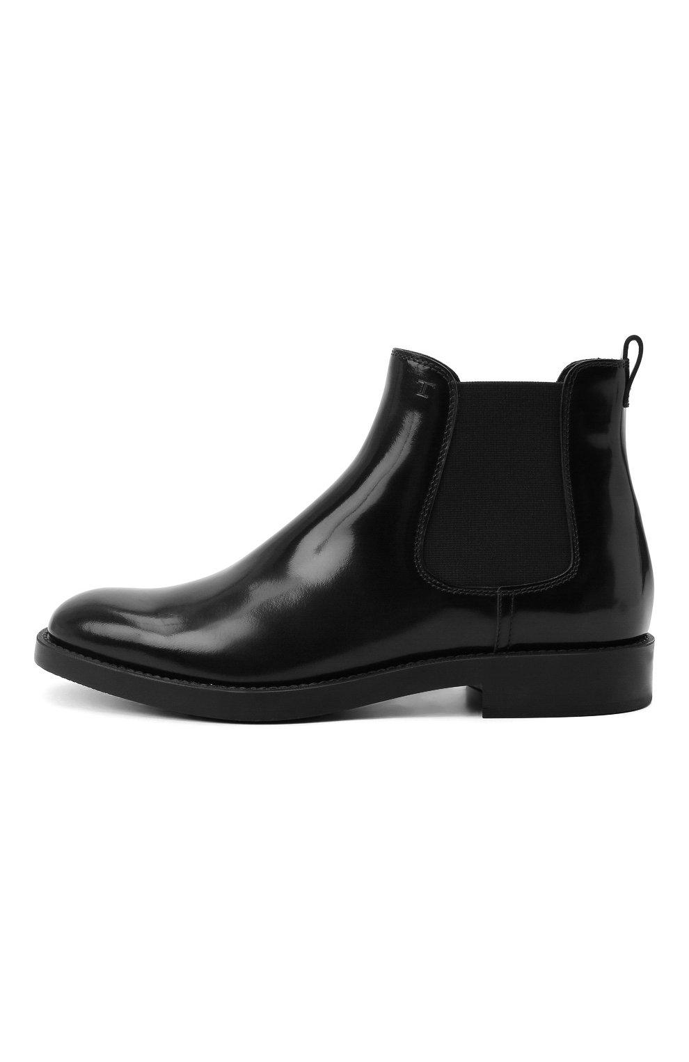 Женские кожаные ботинки TOD'S черного цвета, арт. XXW60C0DD50AKT   Фото 3