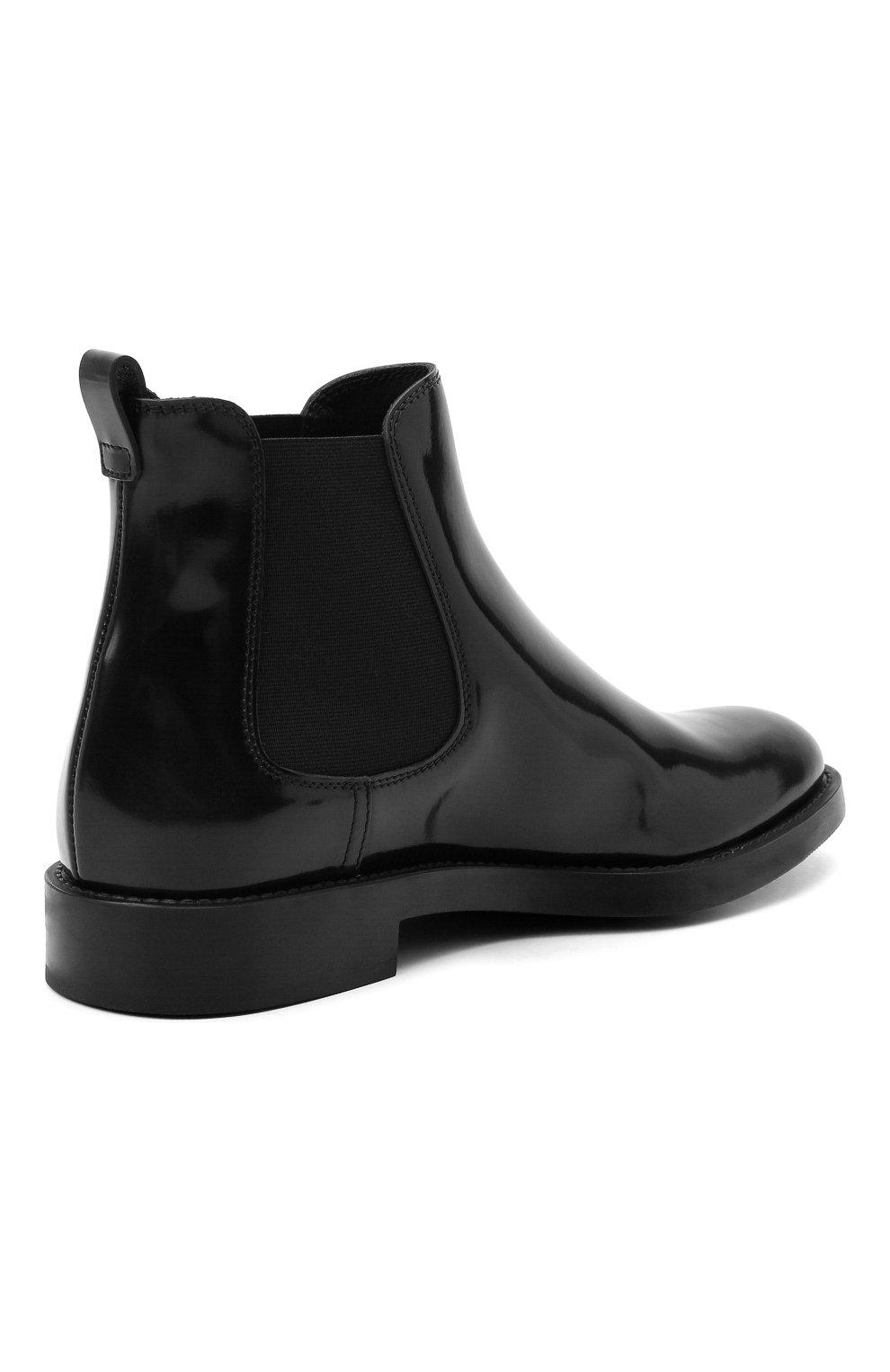 Женские кожаные ботинки TOD'S черного цвета, арт. XXW60C0DD50AKT   Фото 4