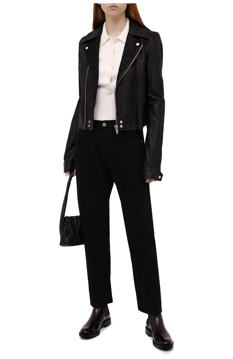 Женские кожаные ботинки TOD'S бордового цвета, арт. XXW60C0DD50AKT   Фото 2