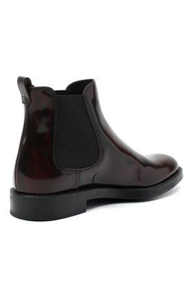 Женские кожаные ботинки TOD'S бордового цвета, арт. XXW60C0DD50AKT   Фото 4