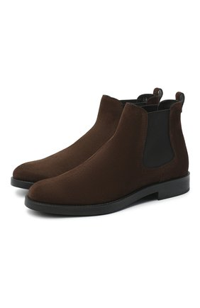 Женские замшевые ботинки TOD'S темно-коричневого цвета, арт. XXW60C0DD50RE0 | Фото 1