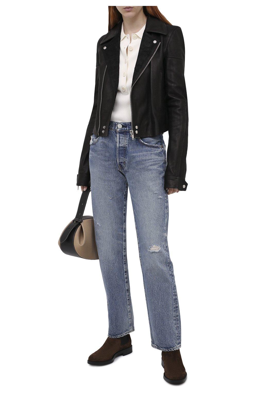 Женские замшевые ботинки TOD'S темно-коричневого цвета, арт. XXW60C0DD50RE0 | Фото 2