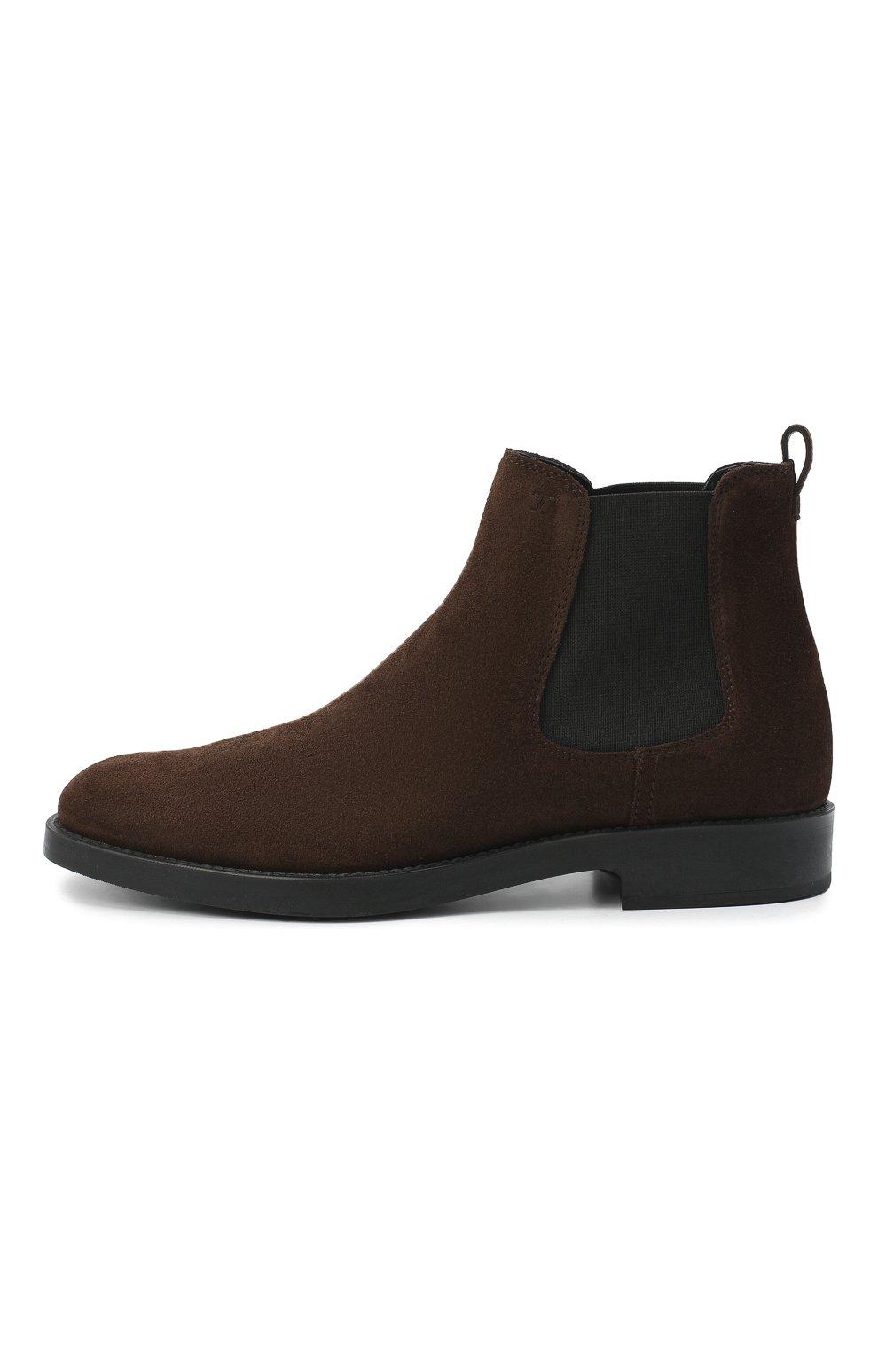 Женские замшевые ботинки TOD'S темно-коричневого цвета, арт. XXW60C0DD50RE0 | Фото 3