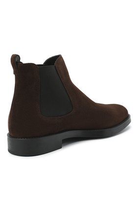 Женские замшевые ботинки TOD'S темно-коричневого цвета, арт. XXW60C0DD50RE0 | Фото 4