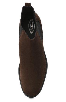 Женские замшевые ботинки TOD'S темно-коричневого цвета, арт. XXW60C0DD50RE0 | Фото 5