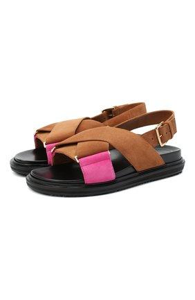 Женские кожаные сандалии fussbett MARNI коричневого цвета, арт. FBMS005201/P3580 | Фото 1
